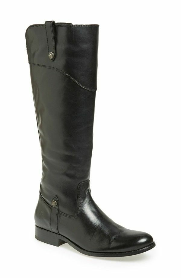comodamente NEW FRYE Sz 7.5 7.5 7.5 Melissa Tab nero Leather Knee High Riding Equestrian stivali  418  outlet online economico