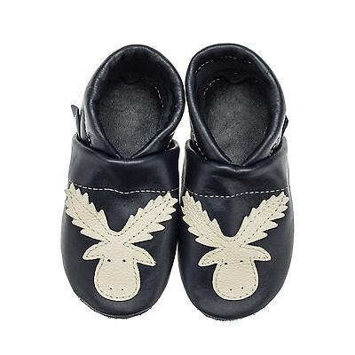Pantau Kinder Lederpuschen, Lauflernschuhe, Babyschuhe, Baby Krabbelschuhe Elch