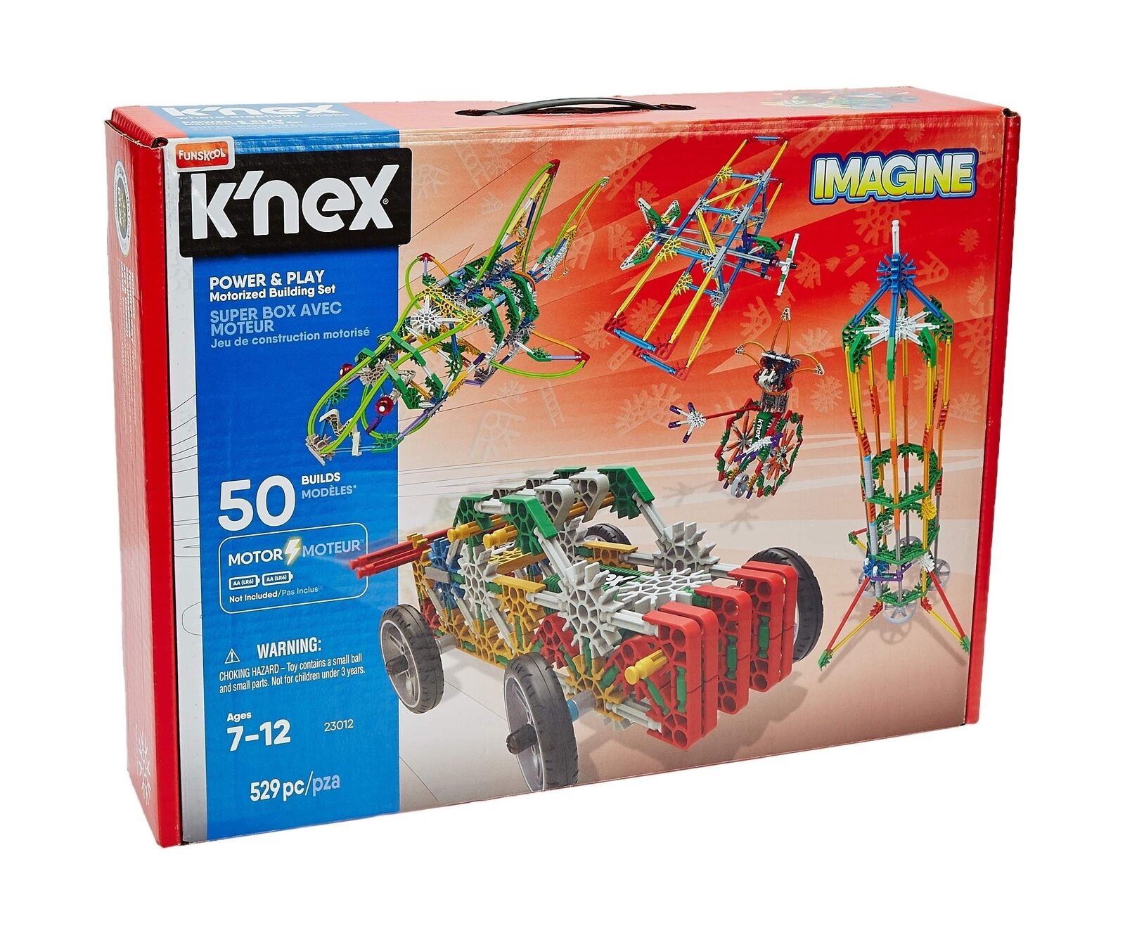 K'NEX Imagine – Power and Play Motorized Building Set – 529 Pieces – Ages 7 a...