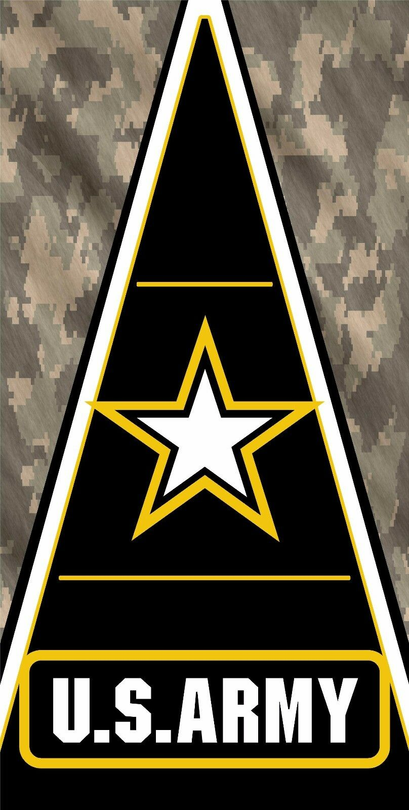 Army Camo Triangle Cornhole Vinyl Decal Wrap Set 24.5 x48.5
