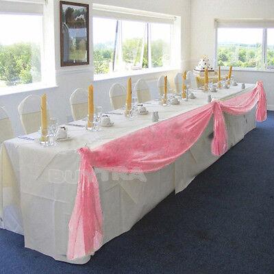 Adorable Table Swags Sheer Organza Fabric DIY Wedding Party Bow Decorations ESUS