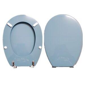 Sieges-de-Toilette-Piemontesina-Wells-Ginori-Bleu-Blason-Compatible-Verni-Poly