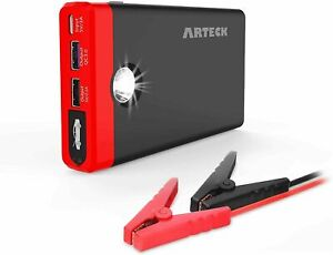 Arteck A7 12000mAh Portable Car Jump Starter Power Bank Pack Battery Charger 12V