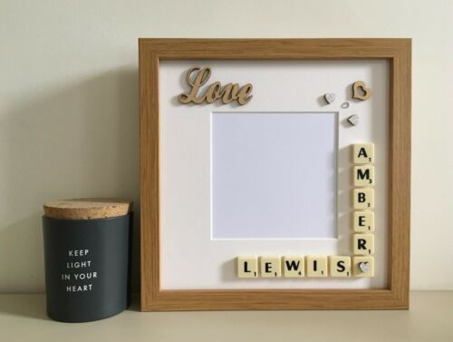 Couples Any Occasion Valentines Day a Scrabble Art Picture Love Photo Frame
