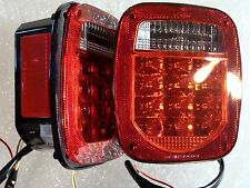 Jeep TJ CJ YJ MJ LJ Replacement LED Tail Lights Includes Both Right & Left Side