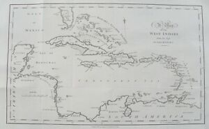 Large-Early-Map-of-the-WEST-INDIES-Caribbean-1799