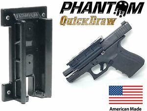 PHANTOM Quickdraw Surface Mountable Magnetic Rackable Gun Holster Black