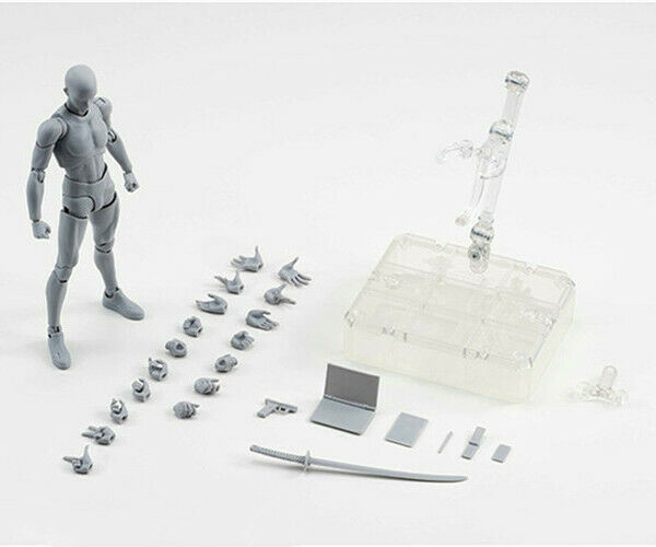 PVC Action Figure Figure Figure Collectible Model SHFiguarts BODY KUN   BODY CHAN Grey color 3d52cb
