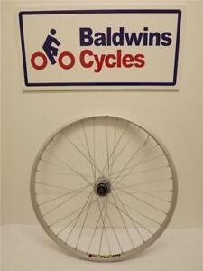 26-034-REAR-DISC-BRAKE-Mountain-Bike-Wheel-8-9-10-SPEED-CASSETTE-Q-R-Hub-SILVER