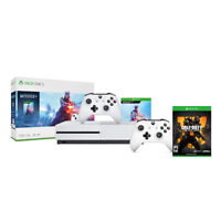Microsoft Xbox One S 1TB Console Battlefield V Bundle + Extra Xbox Wireless Controller (White) + Call of Duty: Black Ops 4 for Xbox One