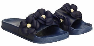 womens jelly flo slides mules sliders beach summer sandals trendy