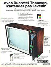 PUBLICITE ADVERTISING 114  1967  DUCRETET-THOMSON  téléviseur MAGIVISION