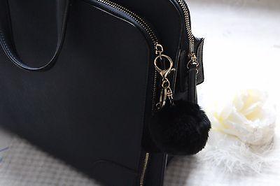 Fellbommel Schlüssel- Anhänger - Taschenanhänger - Pompon Rayon Quaste Engel