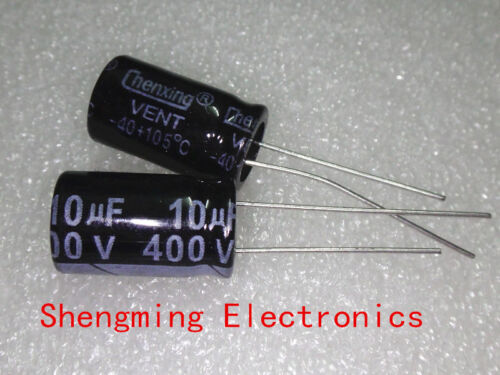 20PCS 10uF 400V 105C Radial Electrolytic Capacitor 10x16mm