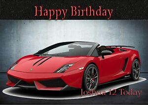 Personalised Birthday Card Lamborghini Large Size Son Grandson