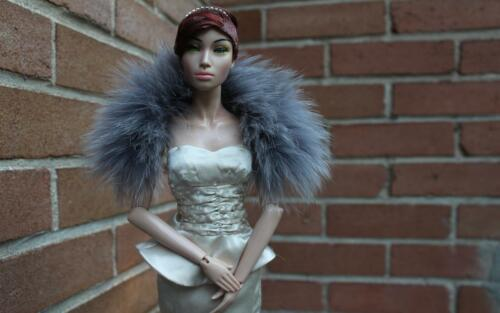 "26/"" Deep Purple Genuine Fox fur Boa 4 Sydney Tyler Gene KD Sybarite doll~dimitha"