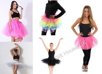 Kids XXL Tutu Girls Fancy Dress Party Gauze Ballet Dance skirt 2 Layers Costume