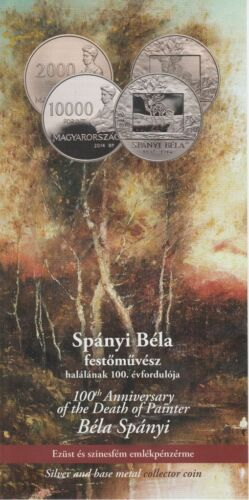 HUNGARY 2014 SPÁNYI BÉLA Painter nominal 2000 FT UNC coin ONLY 3000 Issued!
