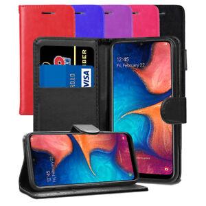 Pour-Samsung-Galaxy-A20E-SM-A202F-DS-Case-Premium-Portefeuille-En-Cuir-Flip-Case-Cover
