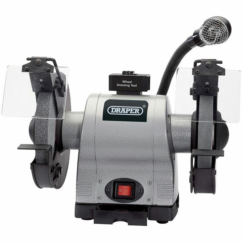 Draper 8  550W Bench Grinder With Work Light