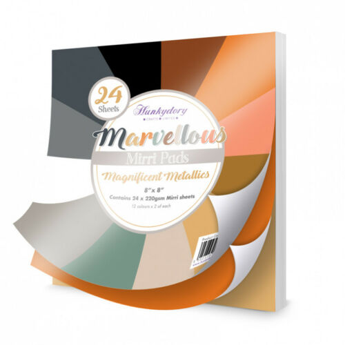 Hunkydory Magnificent Metalics-24 x 8 x 8 Sheets-MPAD004 Marvellous Mirri Pads