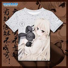 Anime In solitude Kasugano Sora T-shirt Full Color Printing Casual Tee S-XXL