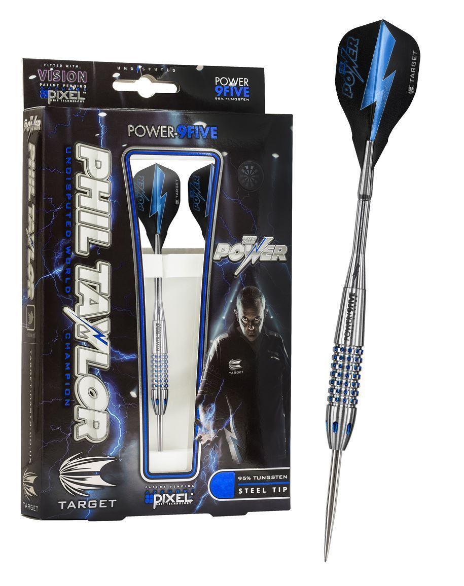 Target Darts Phil Taylor Power 9Five 95% Tungsten Steel Tip Darts 22g 24g 26g
