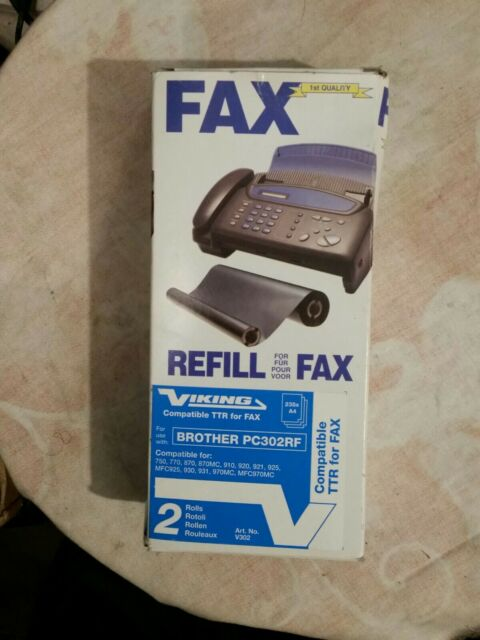 Brother PC302RF RIBBON RE-FILL 2PK FOR FAX-920/930 235 PAGES R2ND#