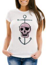 * Skull Pirat Gothic Tattoo Punk Totenkopf Piraten Damen Girl Shirt *4054