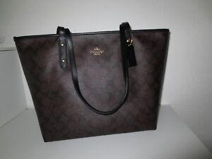 d546febae6cbd COACH Tasche SIG City ZIP Shopper Taschen Bag Schultertasche Brown ...