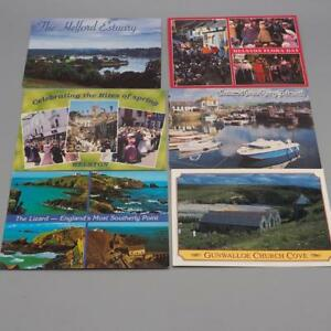 Lot-of-6-Cornwall-Great-Britain-Souvenir-Postcards