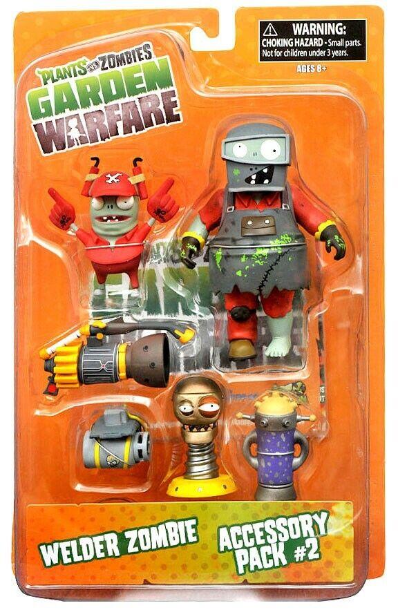 Garden Warfare Series 2 Welder Zombie & Accessory Pack 2 Action Figure 2-Pack