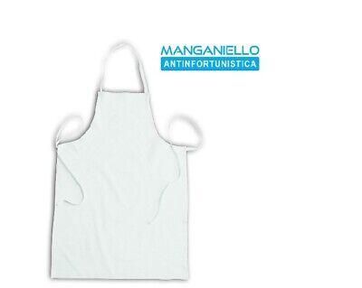 Grembiule Apron Cerato impermeabile Per Lavapiatti o Aiuto Cuoco Bianco