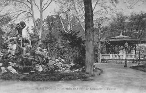 GRENOBLE -  le jardin de Ville - le Kiosque et le Torrent -