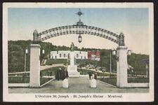 Postcard MONTREAL Quebec/CANADA  St Joseph Shrine Entrance Gate Arch 1910's?