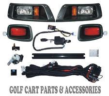 EZGO TXT Golf Cart Headlight & Tail Light Kit Deluxe Street Package 1996-2013