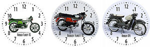 Orologio-parete-con-fantasia-KREIDLER-MOTO-MOTOCICLISTA-motivo-motociclette