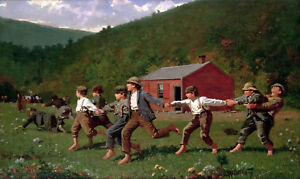 Snap-the-Whip-Painting-by-Winslow-Homer-Art-Reproduction