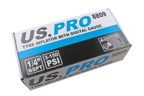 Digital Wheel Tyre Inflator US PRO LCD Digital Display Gauge 3 to 150 PSI 8809