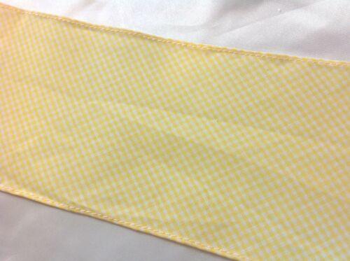 Yellow Gingham Trim  1//4 in squares   4 1//4  inches wide    2 yards