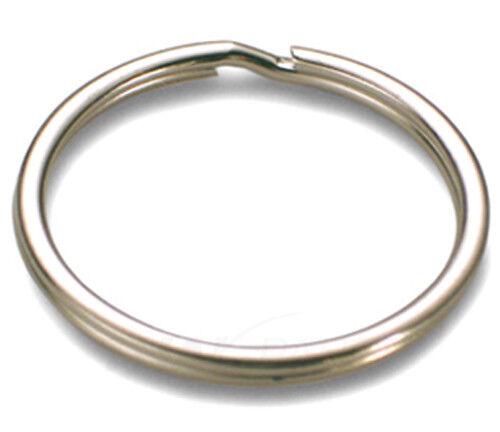 100 Stück Schlüsselringe 18mm vernickelt gehärtet Schlüsselring Split Key Ring
