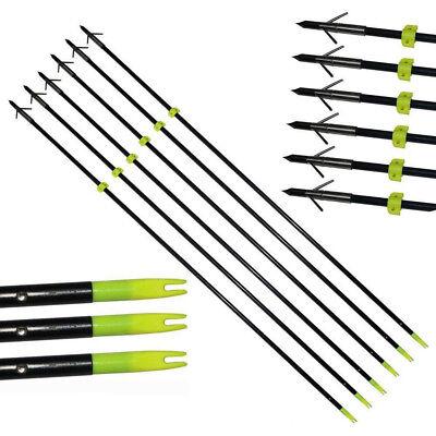 Details about 6PCS Bowfishing Arrows Hunting Arrows Broadhead Slingbow 34