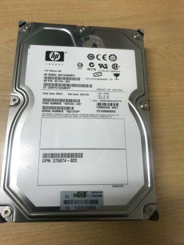 "HP 375874-021 1TB 7200rpm SAS 3.5/"" Hard Drive DB1000BABFF 461134-002 Server"