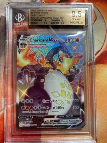 Shining Fates: Shining Charizard VMAX Full Art Beckett 9.5 Pokemon #2