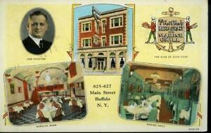 PFEIFFER'S RESTAURANT BUFFALO N.Y. WB HCPC POSTCARD 1936  REF: BUB182