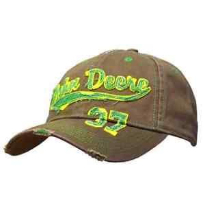 John Deere Men s Brown Colour 37 Vintage Distressed Cap Hat  8594a55580c