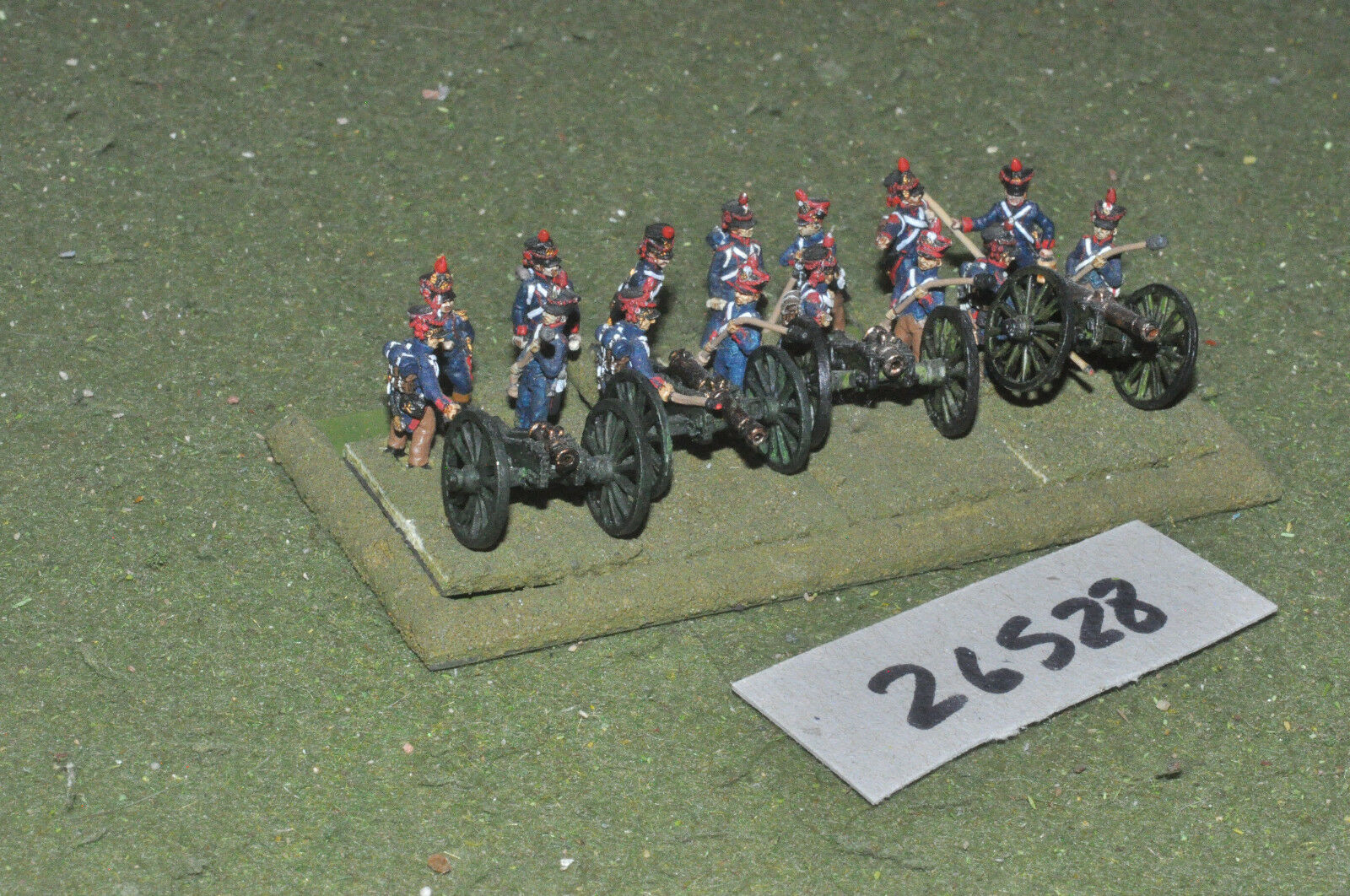 15mm napoleonic   french - 4 guns & crews - art (26528)