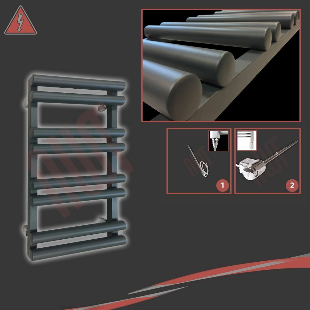 500mm (w) x 800mm (h)  totem  electric anthracite designer sèche-serviettes 150W