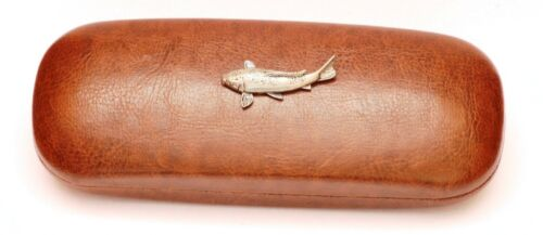 Koi Carp Fish Leather Effect PU Glasses Case  Fishing Gift Fishermans Present