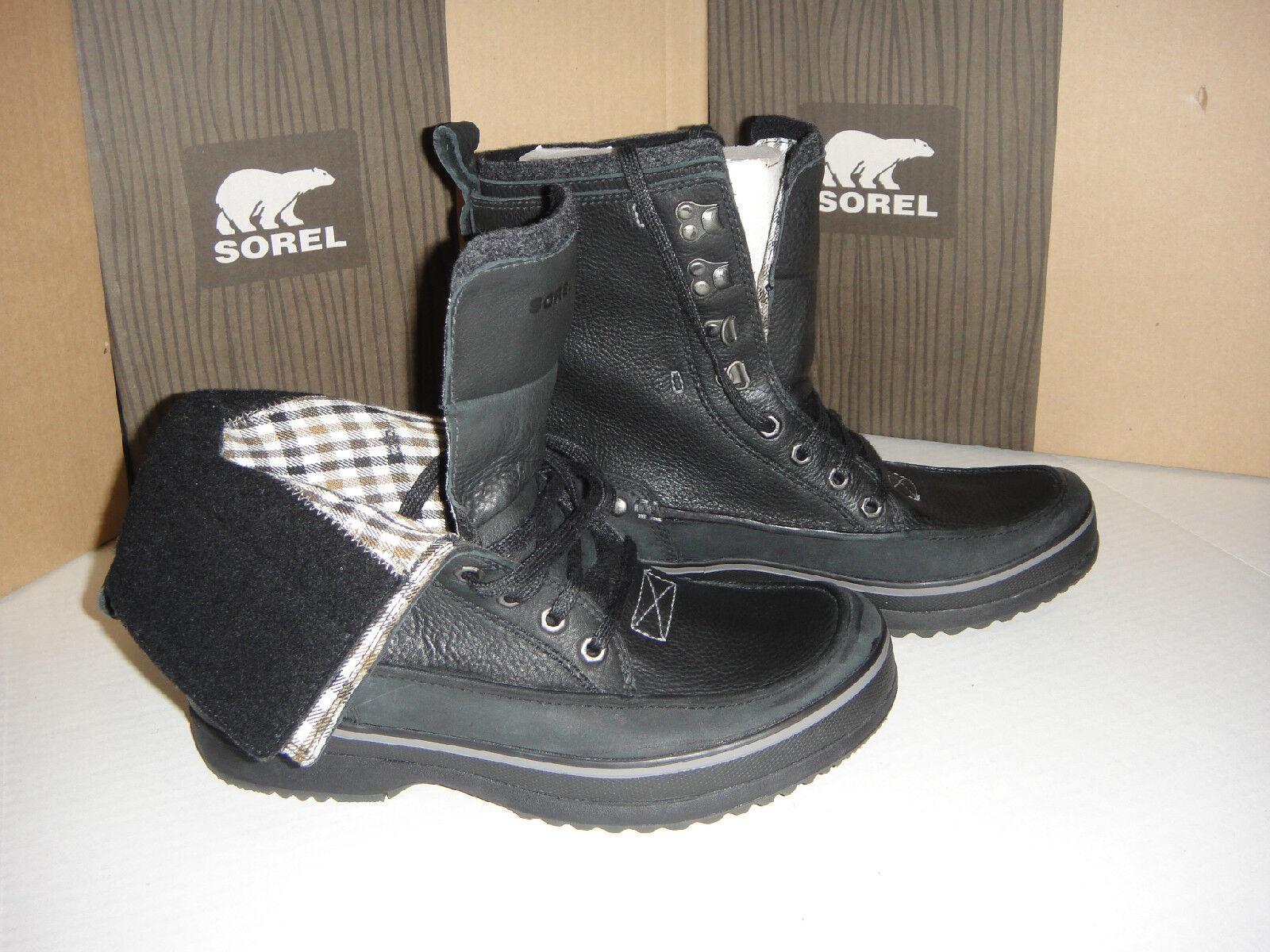NEW SOREL KINGSTONE PEAK  Boot Leather/Nubuck Black/DarkNavy size 10 D